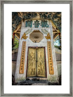 Chinese Temple Framed Print