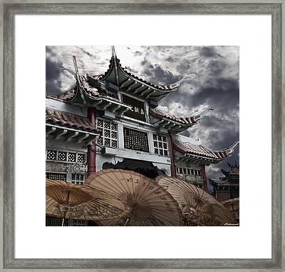 Chinese Temple Gate Framed Print by Larry Butterworth