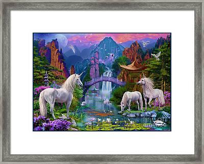 Chinese Unicorns Framed Print