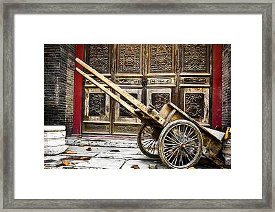 Framed Print featuring the photograph Chinese Wagon In Color Xi'an China by Sally Ross