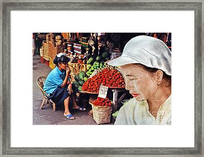 Chinese Woman With A Facial Mole IIi Framed Print