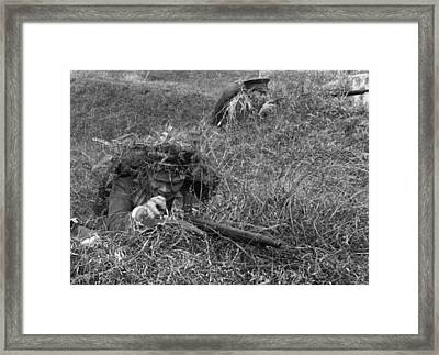 Chinese Women Soldiers Framed Print