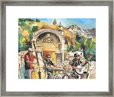 Chino And The Big Bet In Cazorla Framed Print