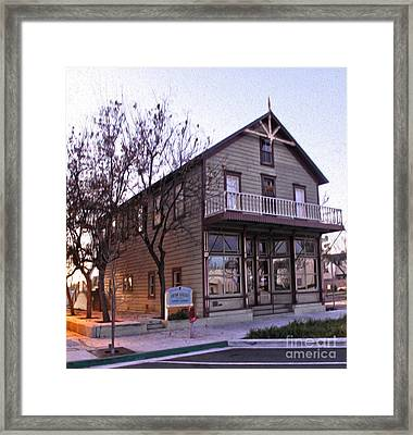 Chino Chamber Of Commerce - 01 Framed Print by Gregory Dyer
