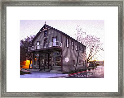 Chino Chamber Of Commerce - 02 Framed Print by Gregory Dyer