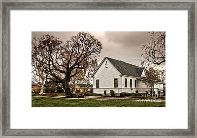 Chino Old School House - 02 Framed Print by Gregory Dyer