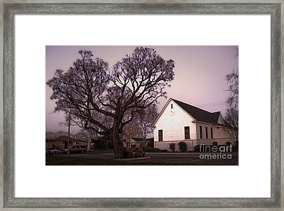 Chino Old School House At Dusk- 03 Framed Print by Gregory Dyer
