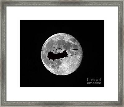 Chinook Moon B And W Framed Print by Al Powell Photography USA