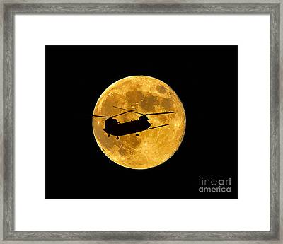 Chinook Moon Color Framed Print
