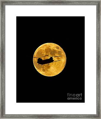 Chinook Moon Color Vertical Framed Print
