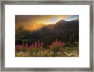 Chinook Pass Sunrise II Framed Print