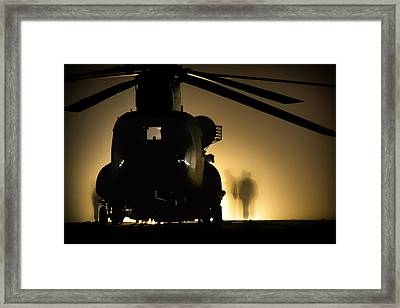 Chinook Silhouette Framed Print by Mountain Dreams
