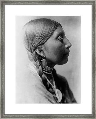 Chinookan Indian Woman Circa 1910 Framed Print