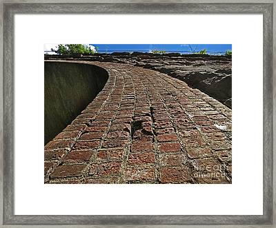 Chipmunks View Of A Stone Bridge Framed Print