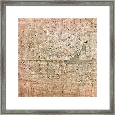 Chipped Veneer Framed Print by Tom Gowanlock