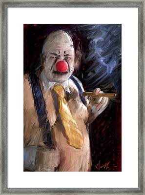 Chippy The Clown Framed Print by H James Hoff