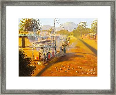 Chips And Beef Framed Print