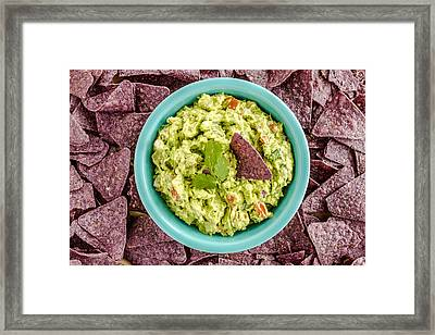 Chips And Guacamole Framed Print by Teri Virbickis