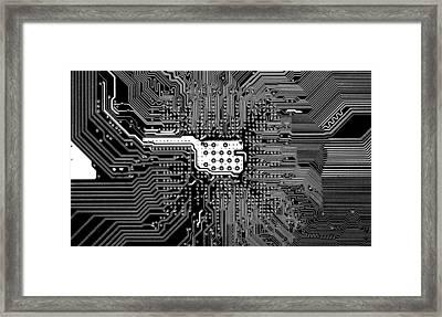 Chipset Black And White Framed Print