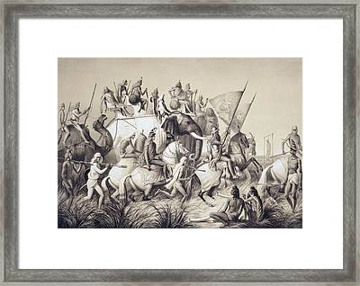 Chir Singh, Maharaja Of The Sikhs Framed Print by A. Soltykoff