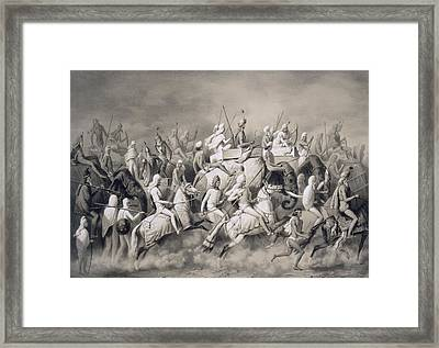 Chir Singh, Maharajah Of The Sikhs Framed Print by A Soltykoff
