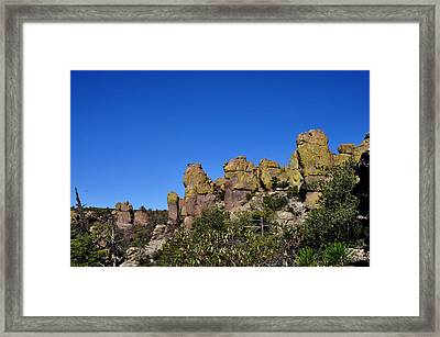 Framed Print featuring the photograph Chiracahua Mountains by Diane Lent