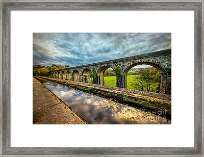 Chirk Aqueduct 1801 Framed Print by Adrian Evans