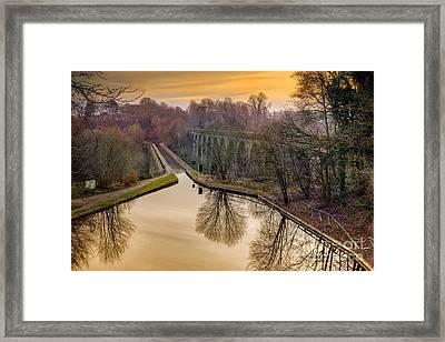 Chirk Aqueduct Framed Print by Adrian Evans