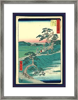 Chiryu, Ando Ca. 1855, 1 Print  Woodcut Framed Print by Utagawa Hiroshige Also And? Hiroshige (1797-1858), Japanese