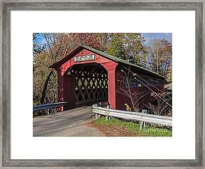 Chiselville Covered Bridge Framed Print by Edward Fielding