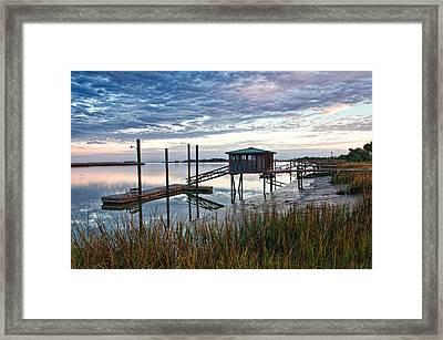 Chisolm Island Docks Framed Print