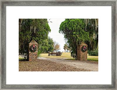 Chisolm Island Gates Framed Print