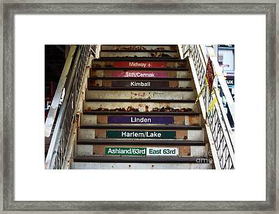 Chitown Destinations Framed Print by John Rizzuto