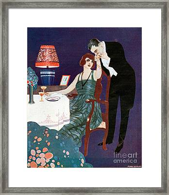 Chivalry 1920s Spain Cc Dining Lamps Framed Print by The Advertising Archives