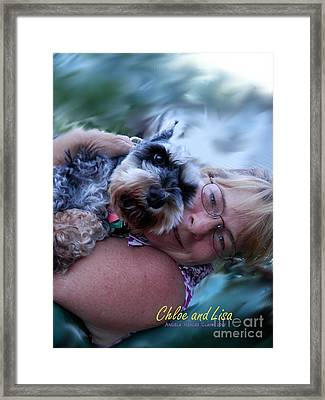 Chloe And Lisa Framed Print by Angelia Hodges Clay