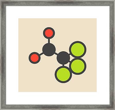 Chloral Hydrate Sedative Molecule Framed Print