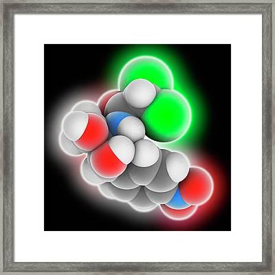 Chloramphenicol Drug Molecule Framed Print