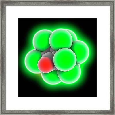 Chlordecone Molecule Framed Print by Laguna Design