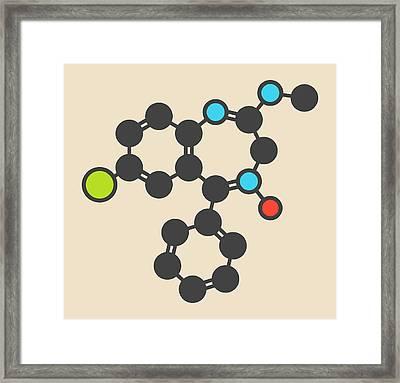 Chlordiazepoxide Sedative Molecule Framed Print