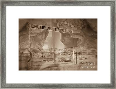 Framed Print featuring the photograph Chloride Cemetery by Marianne Jensen