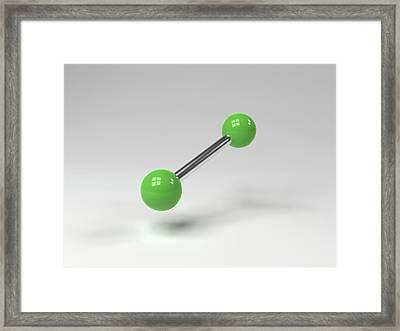 Chlorine Molecule Framed Print