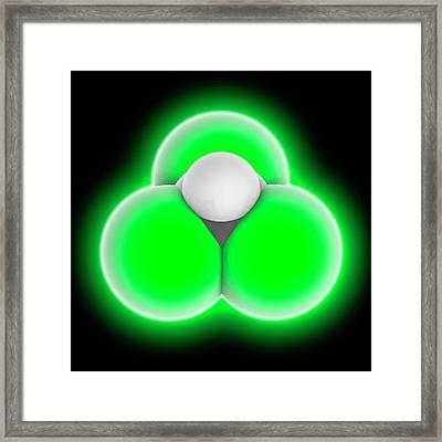 Chloroform Molecule Framed Print