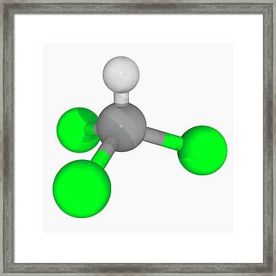 Chloroform Molecule Framed Print by Laguna Design/science Photo Library