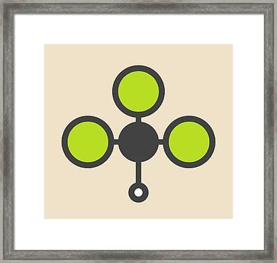 Chloroform Solvent Molecule Framed Print