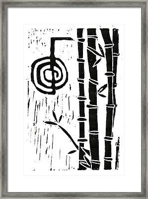 Cho Ku Rei And Bamboo Framed Print