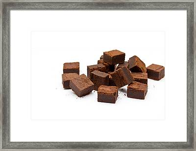 Chocolate Brownies Framed Print by Mike Taylor