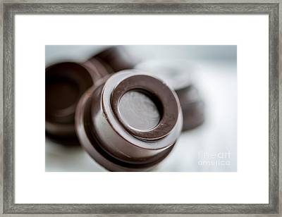 Chocolate Button - By Sabine Edrissi Framed Print by Sabine Edrissi