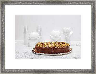 Chocolate Cake Framed Print by Carlos Caetano