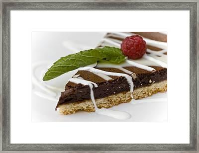 Chocolate Cake Framed Print by Frank Tschakert