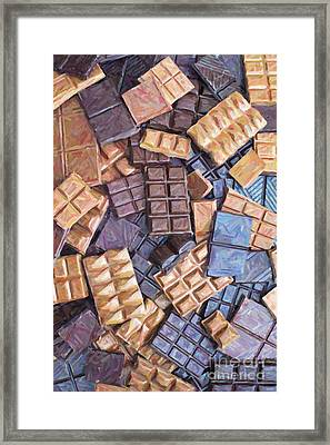 Chocolate Chaos Framed Print by Tim Gainey